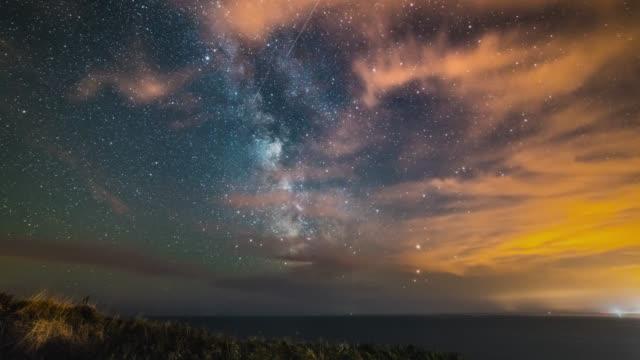 Milky Way rising over Dorset's Jurassic Coast.
