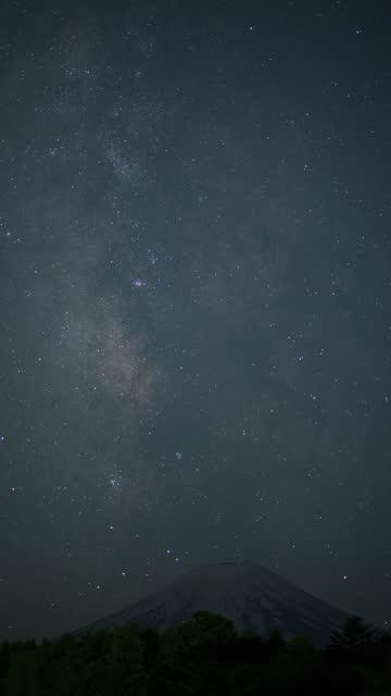 vídeos y material grabado en eventos de stock de milky way rising over mt. fuji - astrología