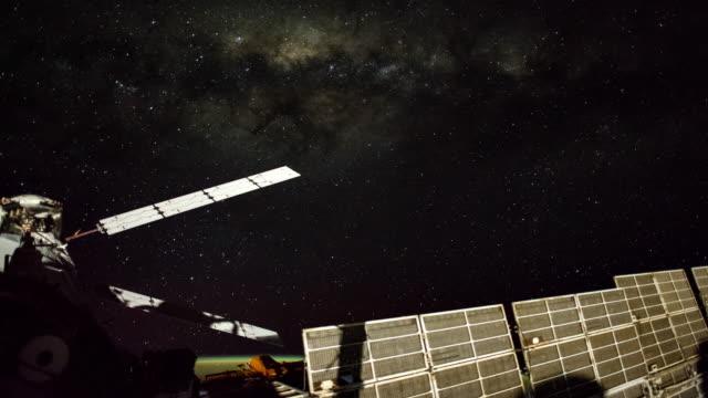 milchstraße aus iss 4 k - kennedy space center stock-videos und b-roll-filmmaterial