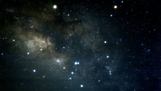 vídeos de stock e filmes b-roll de milky way space galaxy time lapse - ovni