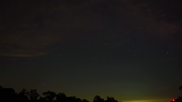 milky way, stars glittering in night sky, time lapse - treetop stock videos & royalty-free footage