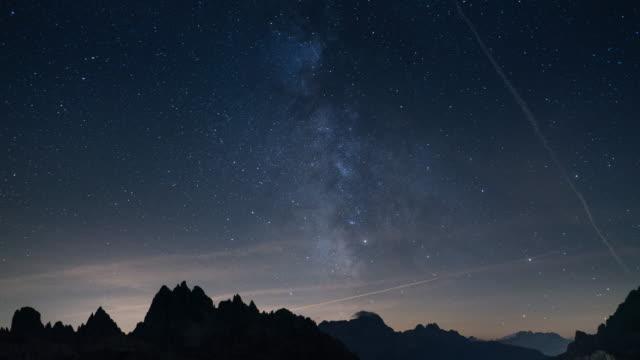 Milky Way, Tilt down Time Lapse