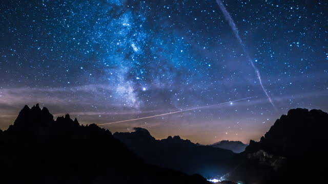 milky way time lapse - star trail stock videos & royalty-free footage