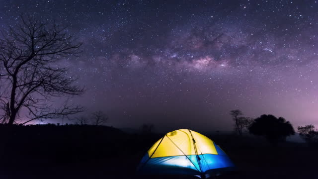 milky way / time lapse - adventure stock videos & royalty-free footage