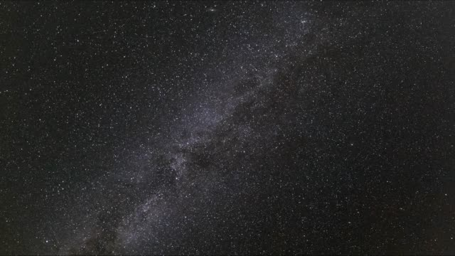 Milky way. Time lapse.