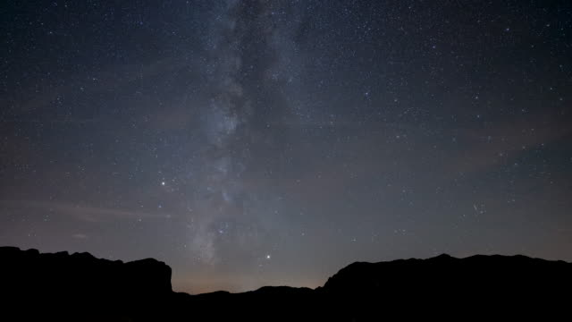 milky way timelapse above mountains in durmitor national park - durmitor national park stock videos & royalty-free footage