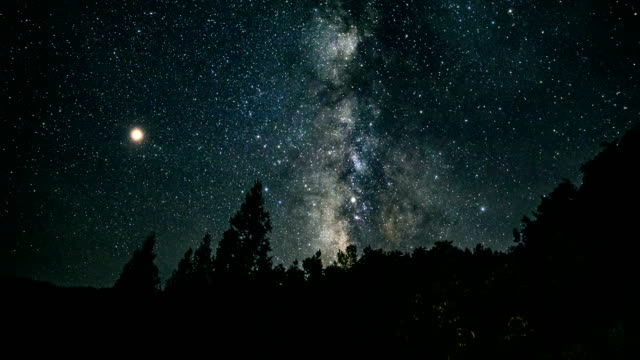 milky way timelapse at night - ethereal stock videos & royalty-free footage