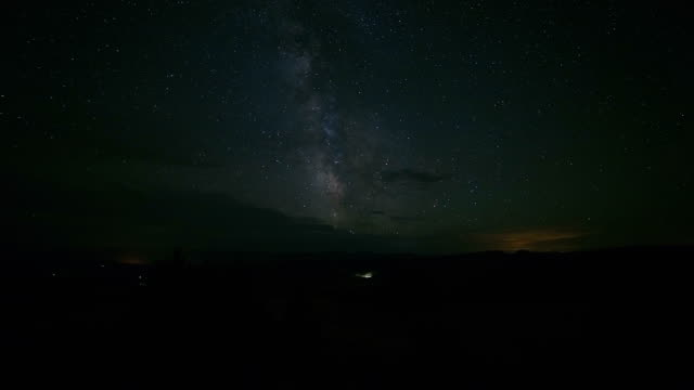 milky way wide angle stars and smoke from wildfires over the oregon high desert in the great basin - wide stock videos and b-roll footage