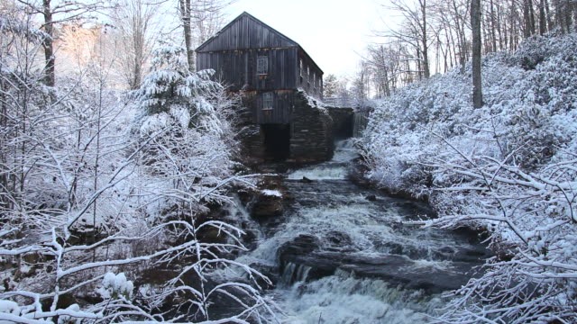 mill village with audio - watermill stock videos & royalty-free footage