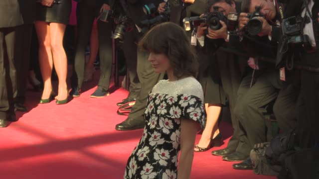 milla jovovich aishwarya rai alyson le borges alice taglioni at 'blood ties' red carpet on may 20 2013 in cannes france - international cannes film festival stock videos & royalty-free footage