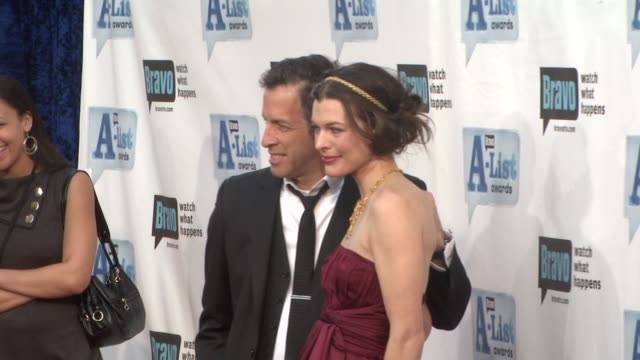 milla jovovich and guest at the bravo's alist awards at los angeles ca - milla jovovich stock videos and b-roll footage