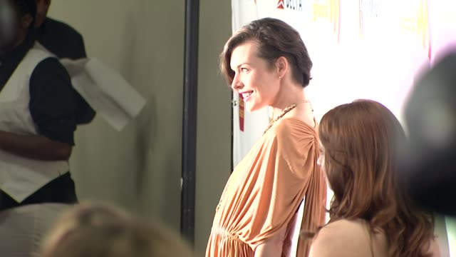 milla jovovich at 23rd annual glaad media awards on 4/21/12 in los angeles ca - milla jovovich stock videos and b-roll footage