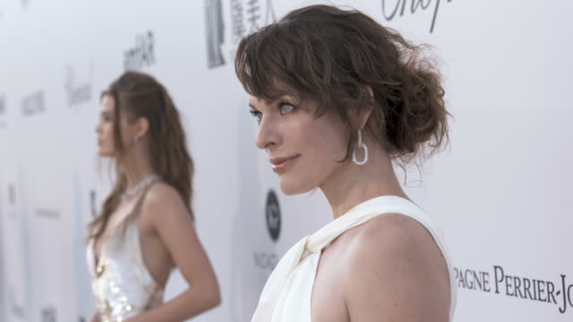 milla jovovich at amfar cannes gala 2019 at hotel du capedenroc on may 23 2019 in cap d'antibes france - milla jovovich stock videos and b-roll footage