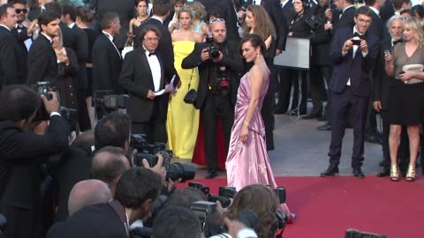 stockvideo's en b-roll-footage met milla jovovich at on the road premiere: 65th cannes film festival at lumiere on may 23, 2012 in cannes, france - internationaal filmfestival van cannes