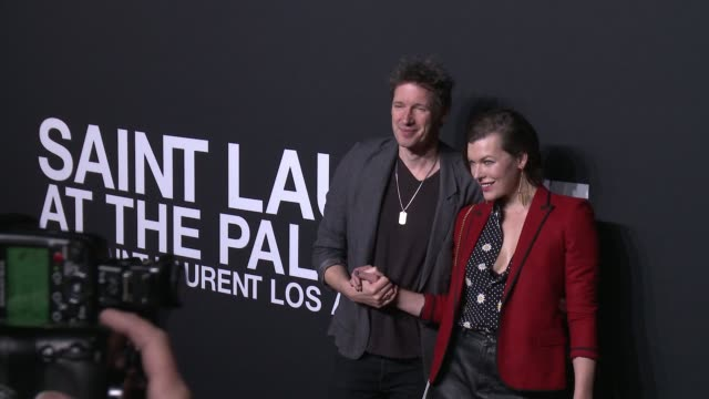 milla jovovich at saint laurent event at hollywood palladium on february 10 2016 in los angeles california - hollywood palladium stock videos & royalty-free footage