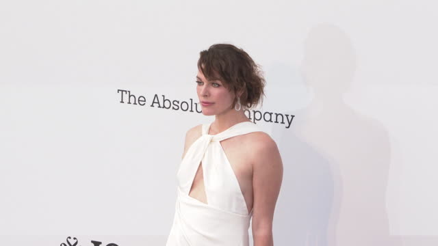 Milla Jovovich at the amfAR Cannes Gala 2019 Arrivals at Hotel du CapEdenRoc on May 23 2019 in Cap d'Antibes France