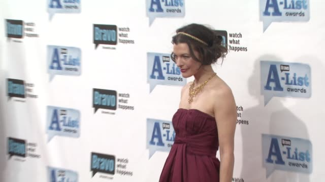 milla jovovich at the bravo's alist awards at los angeles ca - milla jovovich stock videos and b-roll footage
