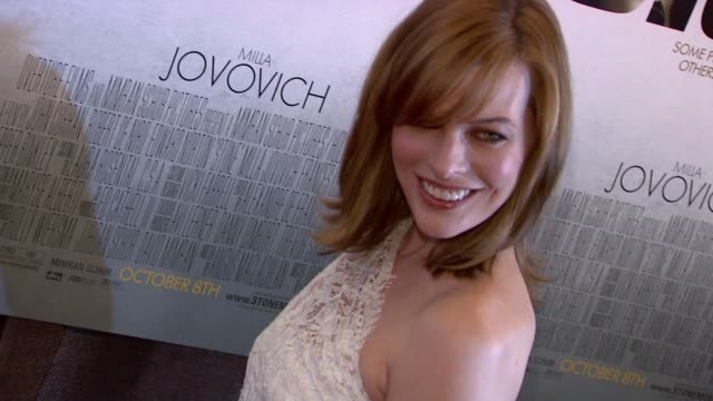 milla jovovich at the 'stone' new york premiere arrivals at new york ny - milla jovovich stock videos and b-roll footage