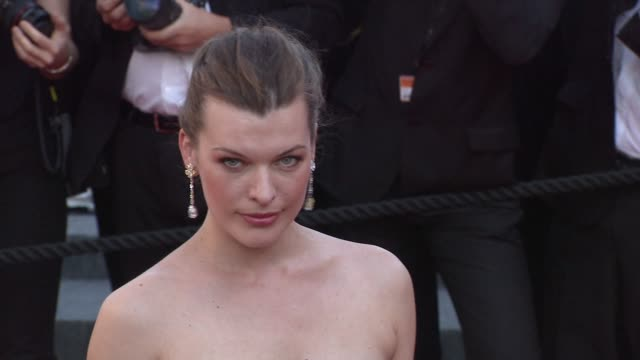 milla jovovich at the utomlyonnye solntsem 2 predstoyanie red carpet cannes film festival 2010 at cannes - milla jovovich stock videos and b-roll footage