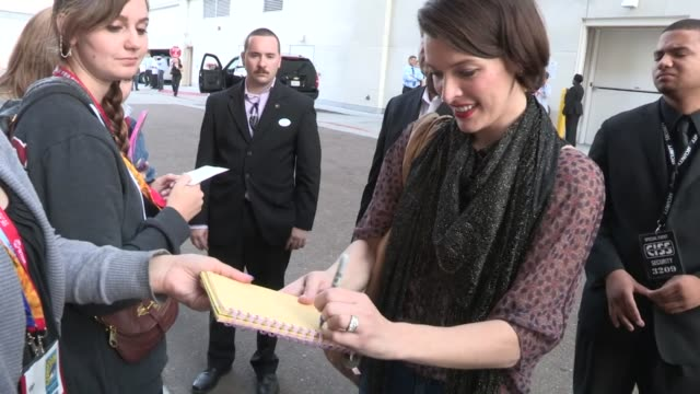 milla jovovich greets fans at comic con in san diego on - milla jovovich stock videos and b-roll footage
