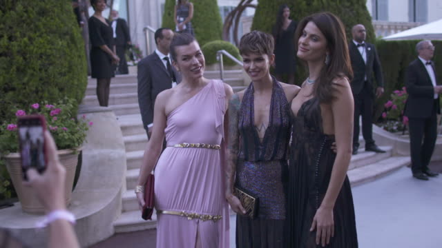 SLOMO Milla Jovovich Isabeli Fontana Ruby Rose at amfAR Gala Cannes 2018 at Hotel du CapEdenRoc on May 17 2018 in Cap d'Antibes France