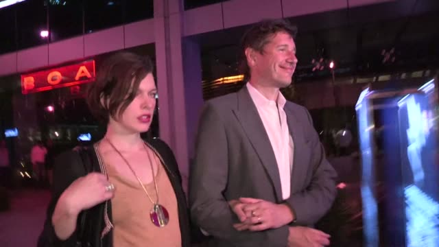 milla jovovich paul w s anderson on her wardrobe malfunction music at boa in west hollywood 05/15/12 milla jovovich paul w s anderson on her wardrobe... - milla jovovich stock videos and b-roll footage