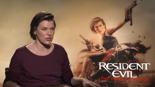 milla jovovich says goodbye to 15 years of resident evil the most successful video game inspired movie franchise - milla jovovich stock videos and b-roll footage