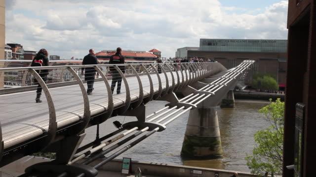 Millenium bridge, over river Thames, London