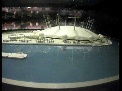 millenium; lib england: london: greenwich: model of millennium dome to be constructed at greenwich - the o2 england stock videos & royalty-free footage