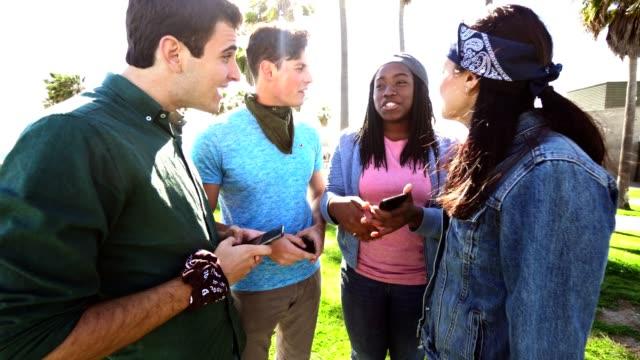 millennials using a smartphone all together