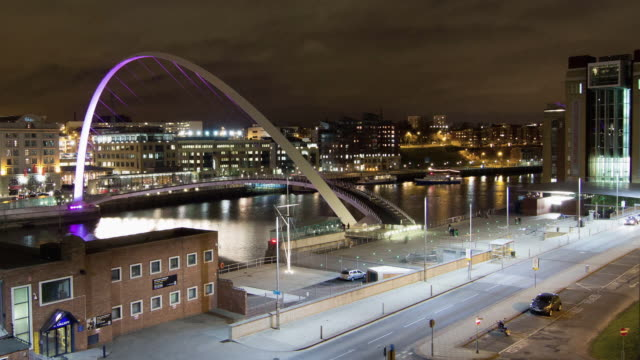 millennium bridge - newcastle upon tyne stock videos and b-roll footage