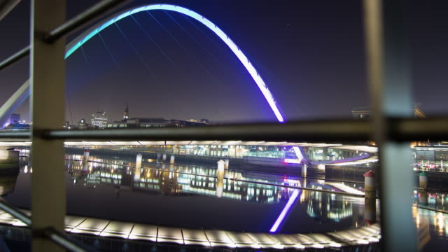 millennium bridge - newcastle upon tyne stock videos & royalty-free footage