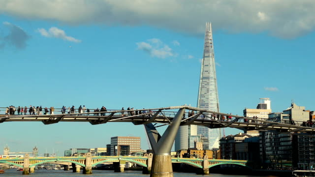 millennium bridge - national landmark stock videos & royalty-free footage