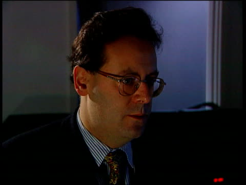 Millennium bug trident missiles fear ITN London Dan Plesch interview SOT Having great difficulty in fixing millennium bug problem affecting Trident...