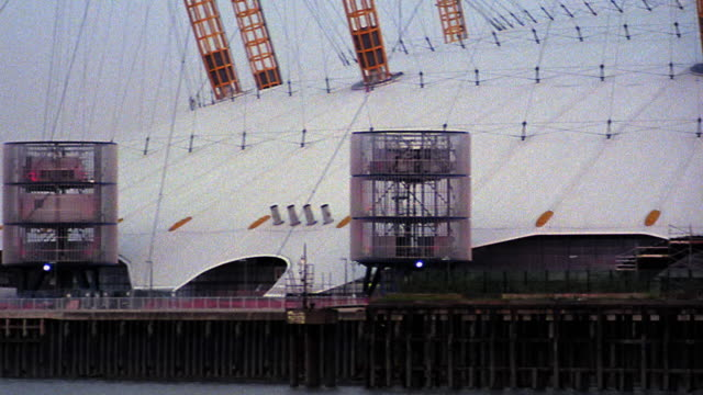 PAN Millennium Dome with Thames River in foreground / London, England