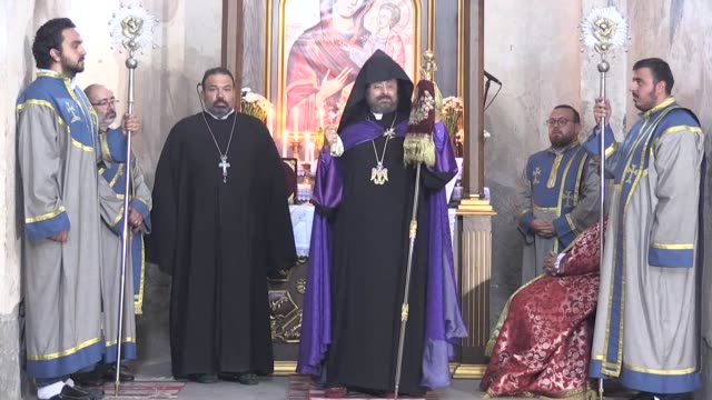 millennium-old armenian church celebrated a special mass in eastern turkey on september 06, 2020. the armenian akdamar church of the holy cross – an... - 2010 2019 stock videos & royalty-free footage