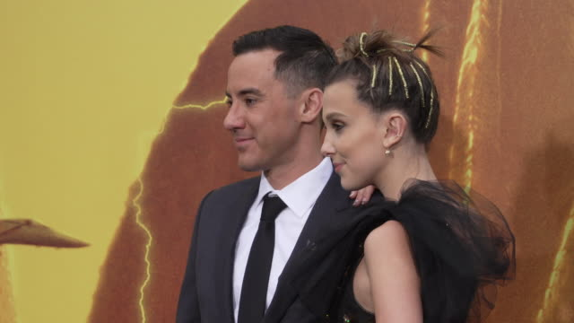 millie bobby brown and michael dougherty at the world premiere of godzilla king of the monsters at tcl chinese theatre on may 18 2019 in hollywood... - millie bobby brown stock videos & royalty-free footage