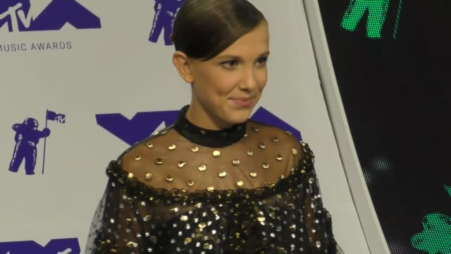 millie bobby brown at the 2017 mtv video music awards at the forum on august 27 2017 in inglewood california - millie bobby brown stock videos & royalty-free footage