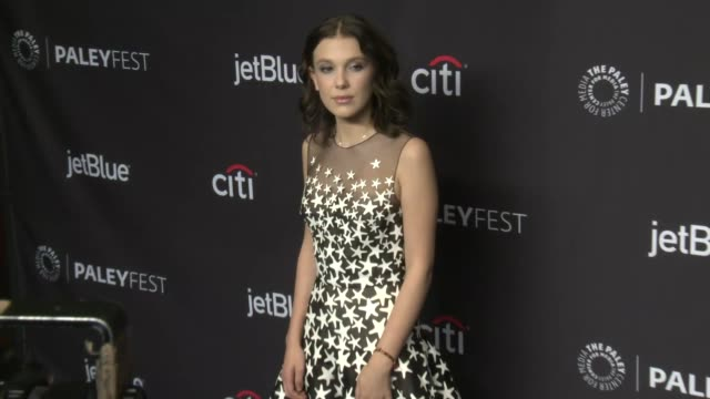 millie bobby brown at the 2018 paleyfest los angeles netflix's stranger things on march 25 2018 in hollywood california - millie bobby brown stock videos & royalty-free footage