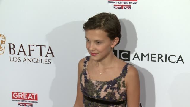 millie bobby brown at the bbc america bafta los angeles tv tea party 2016 at the london hotel on september 17 2016 in west hollywood california - millie bobby brown stock videos & royalty-free footage