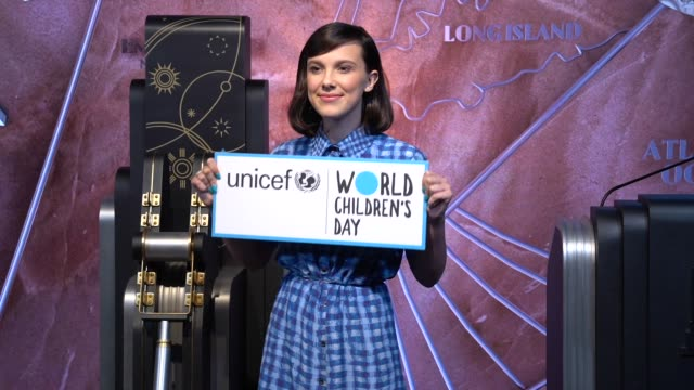 millie bobby brown at unicef appoints emmynominated actress millie bobby brown as its youngestever goodwill ambassador on november 20 2018 in new... - unicef stock videos & royalty-free footage