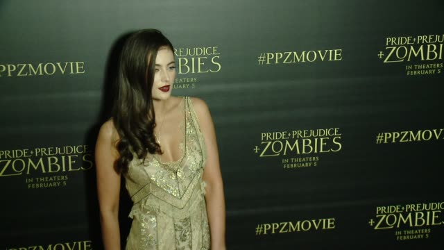 Millie Brady at the 'Pride And Prejudice And Zombies' Los Angeles Premiere at Harmony Gold Theater on January 21 2016 in Los Angeles California