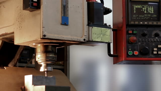 Milling Machine in Operation (close-up)