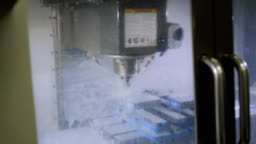 Milling machine in the process. Machine Saw Parts 4K