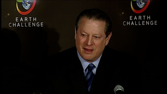 25 Million dollar prize offered for global warming solution Al Gore press conference SOT We're not used to thinking of a planetary emergency nothing...