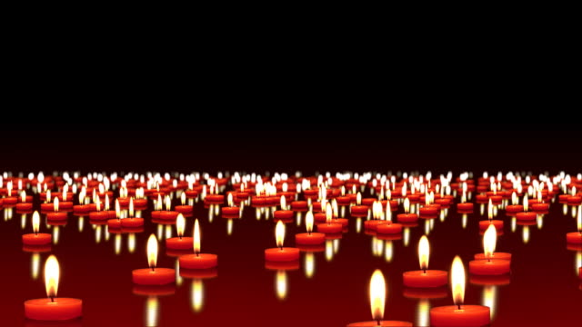 millions of candles burning at the wind, copy space - 大組物體 個影片檔及 b 捲影像