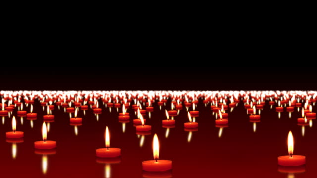 millions of candles burning, loopable, hd - memorial event stock videos and b-roll footage