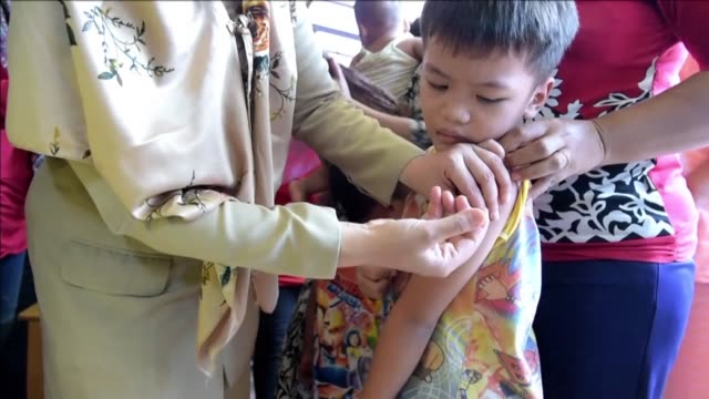 millions of indonesian children are being vaccinated as the country responds to a widespread diphtheria outbreak that has killed dozens officials say - diphtheria stock videos & royalty-free footage