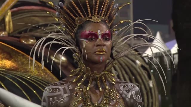 millions of people in costumes or little of anything partied in street carnivals across brazil sunday ahead of the elite samba school dance off in... - samba school stock videos and b-roll footage