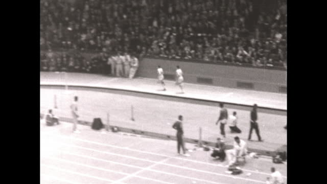 Millrose Games at Madison Square Garden Islvan Rozsavolgyi of Hungary wins the Wanamaker Mile